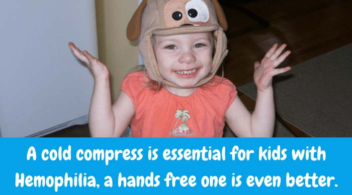 Cool Gel N Cap is the fun cold compress for kids with hemophilia and the only first aid cap for kids.