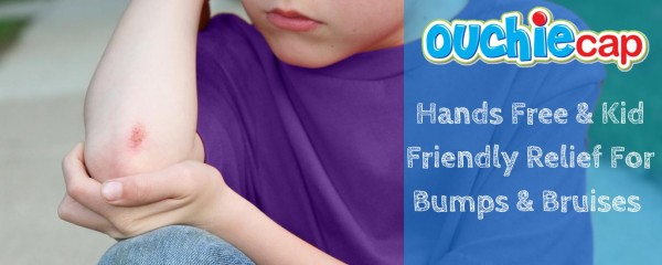 Ouchie Cap makes every day bumps, bruises, & boo boo's all better while putting a smile on your little one's face too! 2 reusable hot & cold gel packs with comfy soothing cap.