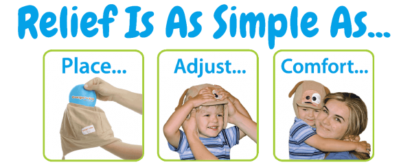 Ouchie Cap is a hands free & fun natural fever reducer. 2 kid's ice packs & heat packs with a cozy soothing cap. It's also great for every day boo boo's.
