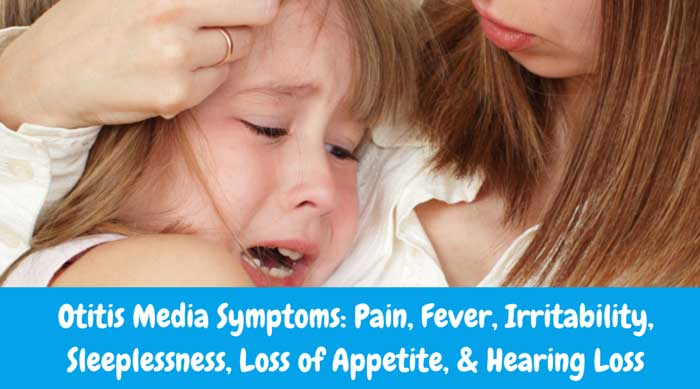 Otitis Media Symptoms: Pain, Fever, Irritability, Sleeplessness, Loss of Appetite, & Hearing Loss. Ouchie Cap is a great natural remedy for these symptoms.
