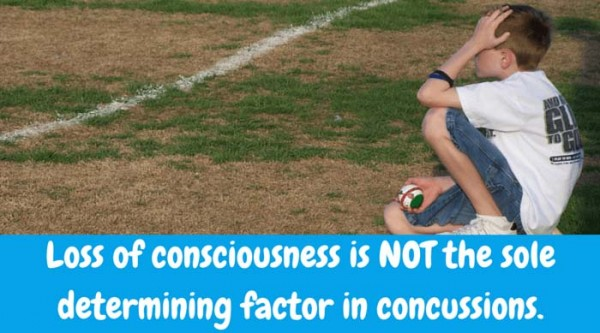 Loss of consciousness is not the sole determining factor in concussions. Symptoms of a concussion vary and are all important.
