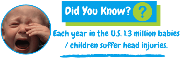 Did you know, earch year in the US, 1.3 million babies / children suffer head injuries?