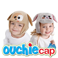 Ouchie Cap - Hands free hot & cold comfort for your child's boo boo's, earaches & more! Plus it's a cozy cap to wear without an ouchie! FREE Shipping in the US! AGES 1+.